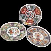 Set of Three Japanese Decorator Plates