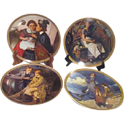 Set of 4 Norman Rockwell Decorator Plates Rediscovered Women