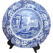 Spode Blue and White Decorator Plate Italian Design