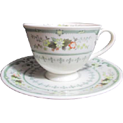 Royal Doulton Cup and Saucer Provencal Pattern