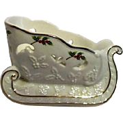 Partylite Ceramic Christmas Sleigh in Original Box