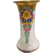 "7"" Ceramic Vase with Multi-Colored Flowers"