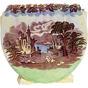 Maling Pictorial Vase from England