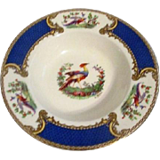 Myott Staffordshire England Bowl Chelsea Bird Blue