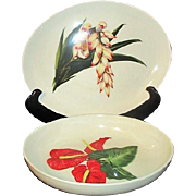 Santa Anita Flowers of Hawaii Oval Serving Bowl and Platter