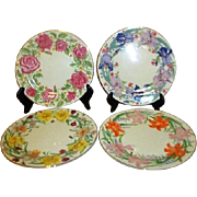 Lenox Set of 4 Desert/Lunch Plates with Flowers