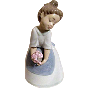 """Daisa"" Young Lady with Flowers by NAO Line of LLadro"