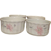 Set of 4 Mikasa Maxima Ramekins Tremont Pattern