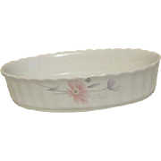 Mikasa Maxima Tremont Pattern Oval Serving and Baking Bowl