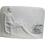 LLadro Collector's Society Display Nameplate with Don Quixote and LLadro Signatures