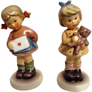 Pair of Small Hummel Girls Figurines