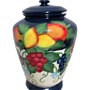Hand Painted Vase with Bold Colored Fruit Motif Made for Nonni's