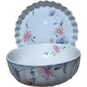 Mikasa Maxima Tremont Pattern Vegetable Bowl Quiche/Pie Pan