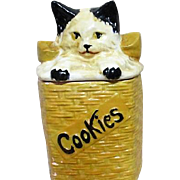McCoy Cookie Jar Cat in a Basket