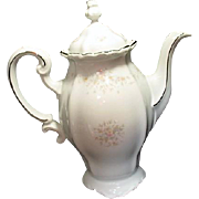 Bavarian Coffee Server from Johann Haviland Platinum Trim Floral Splendor