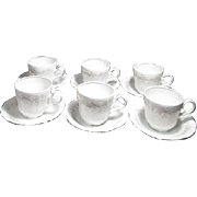 Set of 6 Cups and Saucers Johann Haviland Floral Splendor Bavaria
