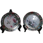 Set of Two Lena Liu Hummingbird Treasury Decorative Plates