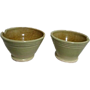 Pair of Celadon Rice Bowls with Chopstick Rests