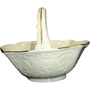Lenox Au Jus Sauce Basket Cream with Gold Trim