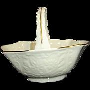 Lenox Au Jus Sauce Basket Cream with Gold Trim