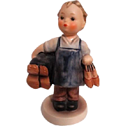 Hummel Figurine Small Boy with Shoes Titled Boots