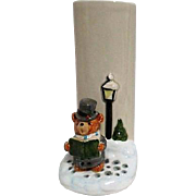 Otagiri Vase with Caroling Bear from Japan