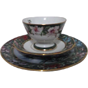 Three Piece Small Plate Cup and Saucer Lena Liu Hummingbird