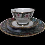 Three Piece Small Plate Cup and Saucer Lena Liu Hummingbird