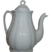 J. Broadhurst Mfr Fentonstone Staffordshire Wheat Pattern Coffee Pot Late 1800's