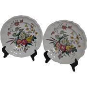 Pair of Spode Gainsborogh (Marlborough) Pattern Dinner Plates