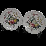 Pair of Spode Gainsborogh (Marlborough) Pattern Dinner Plates