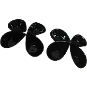 Set of 8 Sauce/Dipping Bowls Black Teardrop Shape
