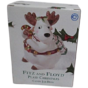 Fitz and Floyd Christmas Reindeer Candy Dish