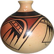 Native American Pottery Jug Signed John Dineh