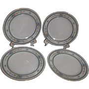 Noritake Amenity Pattern Bread & Butter Plates Set of 4
