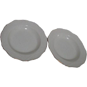 Wedgwood 2 Soup Bowls Cream with Gold Trim