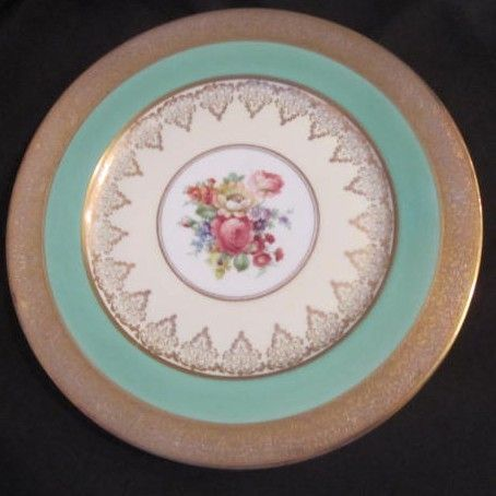 Vintage Decorator Plate with Gold Trim/Roses and Other Flowers