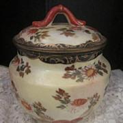 Antique Oriental Porcelain Jar with Lid, Signed