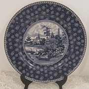 Vintage Blue and White Large Plate
