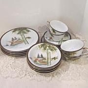 Vintage Oriental Luncheon Set By Kutani