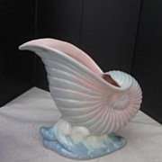 Vintage Nautilus Shell Planter Hand Painted  by Maxina of Regal California