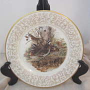 Vintage Don Whitlatch Gorham Limited Edition Decorator Plate Bobwhite-Quail