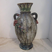 Vintage Vase with Scattered Roses