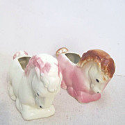 Vintage Pair of Horse Planters