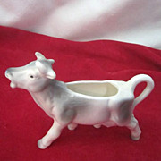 Vintage Small Grey and White Cow Figural Creamer