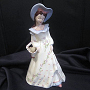Florence Ward  Figurine Lady with Flower Basket