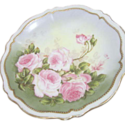 O&EQ Royal Made in Austria Signed French Roses Plate