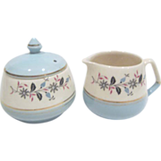 Cream & Sugar Set by Keele St. Pottery Co.Ltd, England