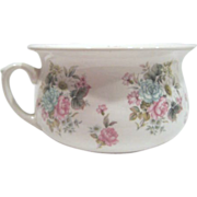 English Chamber Pot Flower Transferware, Arthur Wood