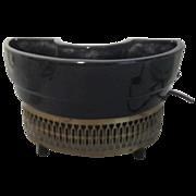 Black Ceramic TV Light/Planter c1950 by Capri of California